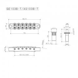 Gotoh Tunematic-style bridge nickel schematic