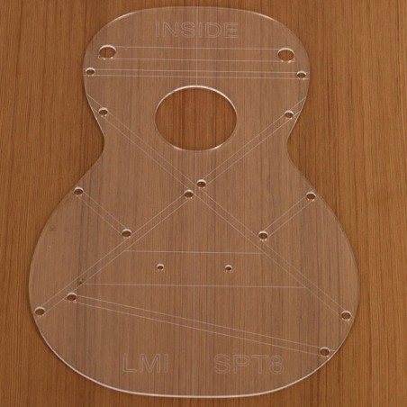Acrylic template, small concert (parlor), Martin-style